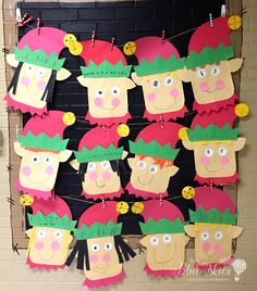 Elf Craft for the Classroom: Simple, quick, and easy craft for kindergarten and . Elf Craft for the Classroom: Simple, quick, and easy craft for kindergarten and first grade classro Preschool Christmas, Christmas Activities, Christmas Crafts For Kids, Holiday Crafts, Christmas Crafts For Kindergarteners, Winter Activities, Art And Craft Videos, Easy Arts And Crafts, Arts And Crafts Projects