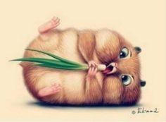 20 Cute and Easy Cartoon Hamster Drawing Ideas Illustration Mignonne, Cute Illustration, Cute Baby Animals, Funny Animals, Art Mignon, Cute Hamsters, Cute Animal Drawings, Cute Cartoon, Easy Cartoon