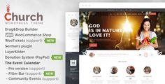 Buy Church - WordPress by vamtam on ThemeForest. WordPress Compatible Church and Event is suitable for users with zero programming skills as well as advanced deve. Template Wordpress, Tema Wordpress, Premium Wordpress Themes, Wordpress Free, Theme Template, Church Events, Font Face, Themes Free, Website Themes