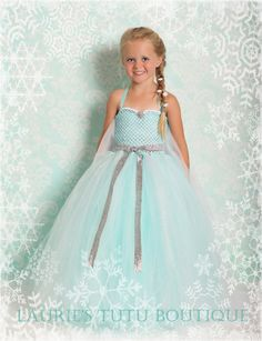 Queen Elsa Frozen Tutu Dress with Halloween by lauriestutuboutique