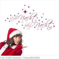 Wandtattoo Weihnachten - Stille Nacht, heilige Nacht