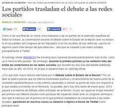 Los partidos trasladan el debate a las redes sociales / @cuartopoder | #socialpolitics
