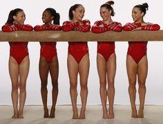 The 2012 U.S. Women's Gymnastics team poses for a photo...