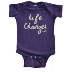 """Young & Free Vintage Purple Onesie """" Life Changer"""""""
