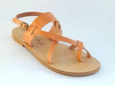 Griechische Leder Sandalen von babisg auf Etsy