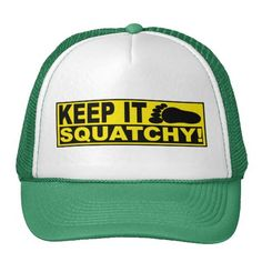 Cover your head with a customizable Keep It Squatchy hat from Zazzle! Shop from baseball caps to trucker hats to add an extra touch to your look! Finding Bigfoot, Mexican Flags, Cowboy Birthday, Green Hats, Summer Hats, Tan Lines, Girl With Hat, Hat Making, Green Stripes