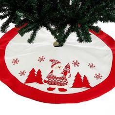 92c28767f 90 cm Snow Plush Christmas Tree Skirt Base Floor Mat Cover XMAS Merry tree  ornament Santa Claus deer felt Christmas tree home De