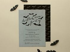 Batty  Halloween Party Invitation Bat Theme by BanterandCharm, $45.00