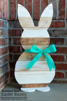 Reclaimed Wood Easter Bunny  - CountryLiving.com