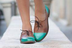 Las mujeres cuero cuero de Oxford Oxford zapatos por BangiShop