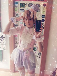 Let me be your sweet prince~ (*˘︶˘*).:*♡ *:・゚✧*:・゚✧ Blouse, shorts, hat, wristcuffs and badge are from Precious Clove's Singing in the Rain series☆ Wig is from Airily☆ Socks are offbrand☆ Pastel Goth Fashion, Kawaii Fashion, Lolita Fashion, Grunge Fashion, Chic Outfits, Pretty Outfits, Girl Outfits, Fashion Outfits, Creepy Cute Fashion