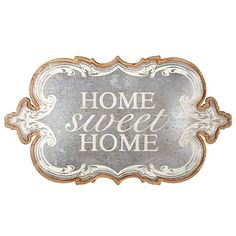 Set of 2 Brown Decorative Metallic (Grey) 'Home Sweet Home' Wall Art Rice Paper Decoupage, Decorative Curtain Rods, Decoupage Printables, Wood Burning Patterns, Inspirational Phrases, Decoupage Vintage, Best Logo Design, Vintage Tags, Wall Art Quotes