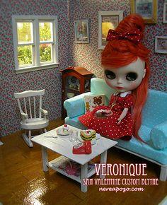 """Veronique """"custom Blythe"""" by Keera, via Flickr"""