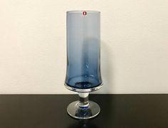 Tapio Wirkkala 2727 Blue Glass Vase  Finnish Vintage Art