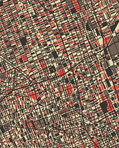 I love maps as art. And I love the people I know who are from Detroit.