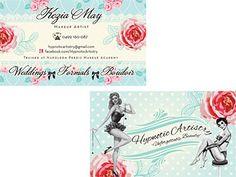 Shabby Chic Vintage Make Up Artist Business Card Design