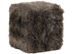 Use as a standalone accent or double up as a bench, this plush ottoman is wrapped in a soft animal inspired faux fur in charcoal brown tones. Ottoman In Living Room, Home Living Room, Discount Furniture Stores, Goods Home Furnishings, Fabric Ottoman, Get Directions, Accent Furniture, Fabric Material, Faux Fur
