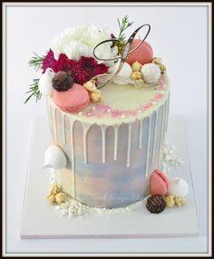 Water colour drip cake.