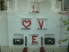 Valentines day window display done by me <3
