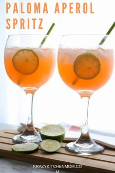 A Paloma Aperol Spritz is a refreshing summer cocktail made with Aperol, grapefruit soda, tequila, fresh lime juice, and topped with prosecco. #tequillacocktails