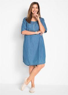 Džínové šaty s krátkým rukávem, bpc bonprix collection