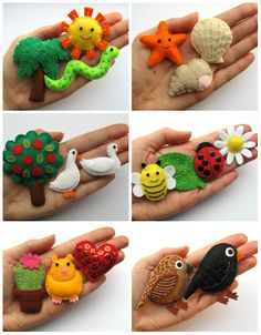 Bugs and Fishes by Lupin: All the Free Tutorials to Accompany Super-Cute Felt…