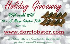 Lobster tail giveaway