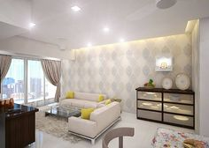 Flat Interior Design, Flat Design, Interior Ideas, Cozy Apartment, Apartment Interior, Mumbai, Small Apartments, India, 3d