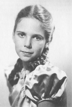 Helga Goebbels. This photograph was probably given by Magda to Joseph on his birthday in 1944. (via indesirableprincesse)