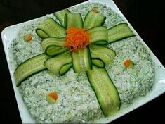 Bento Tutorial, Calming, Food Art For Kids, Food G - Food Carving Ideas Good Food, Yummy Food, Awesome Food, Food Carving, Vegetable Carving, Food Garnishes, Garnishing, Food Platters, Meat Trays