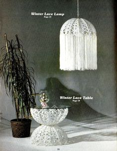 Vintage Macrame Enchantment 24 Patterns Designs Furniture Fountain Hanging Birdcage Divider Screen Floor Table Planter Baby Room Accessories...
