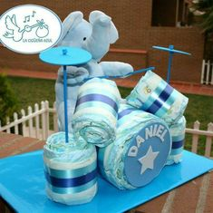 Baby Shower Centerpieces For Boys Babyshower Party Ideas 55 Ideas Regalo Baby Shower, Baby Shower Diapers, Baby Shower Cakes, Baby Shower Parties, Baby Shower Themes, Baby Boy Shower, Shower Ideas, Baby Showers, Baby Shower Presents