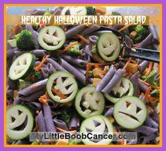 Healthy Halloween Pasta Salad Healthy Halloween Pasta Salad