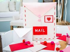 "Get great DIY tips, crafts, and more from the experts at Hallmark Channel's ""Home & Family,"" weekdays at Valentines Day Treats, Valentine Crafts, Holiday Crafts, Holiday Decor, Home And Family Crafts, Home And Family Hallmark, Cardboard Shipping Boxes, Felt Squares, Family Show"