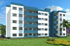 O condomínio residencial Park View, composto por 13 blocos de 5 pavimentos - Immobile Arquitetura