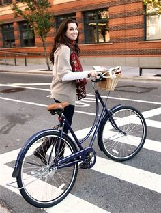 Brooke Shields with her cute C. Wonder bicycle