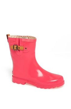 Chooka 'Top Solid Mid Height' Rain Boot (Women) available at #Nordstrom Need these…but in BLACK!!!!