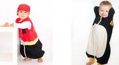 Pijamas divertidos para ninos Saco pinguino de Pirata y Pinguino