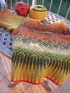 ac in the morning light Christiane Struck Fair Isle Knitting Patterns, Fair Isle Pattern, Knitting Stitches, Knitting Designs, Knitting Yarn, Knit Patterns, Knitting Projects, Hand Knitting, Form Crochet