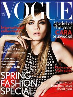 Cara Delevingne Makes Her British Vogue Cover Debut