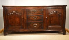 A Good Oak George III Period Lancashire Dresser Base