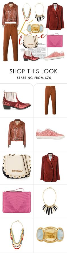 """""""Love my Fashion"""" by justinallison ❤ liked on Polyvore featuring Golden Goose, Betsey Johnson, Alexis Bittar, Emily & Ashley and Brigid Blanco"""