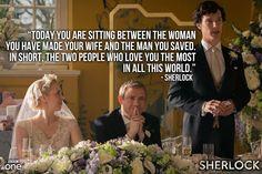 Is it just me, or does Sherlock's best man speech read more like a marriage proposal? :)