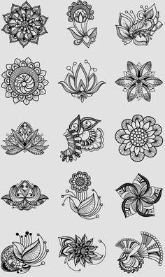 Best 12 design tattoo – Page 820147782123464328 Mandala Arm Tattoo, Mandala Tattoo Design, Henna Tattoo Designs, Mandala Drawing, Lotus Mandala, Henna Drawings, Art Drawings, Hand Tattoo, Zentangle Patterns