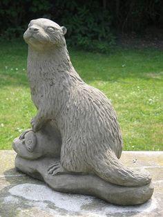 Otter Garden Statue
