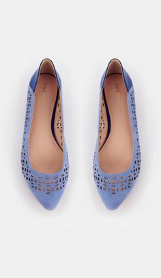 Laser cut flats - Barrie - French Taupe Ecru
