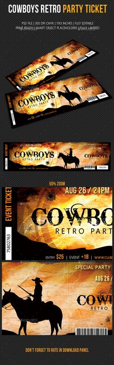 Event Ticket Color text, Event ticket and Ticket template - design tickets template