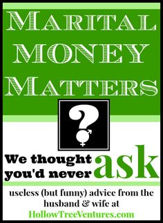 We thought you'd never ask... about money! In this husband and wife he said/she said, we discuss the family budget and big-ticket items. What's YOUR opinion? #humor