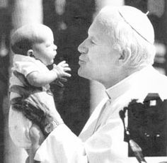 """How can one morally accept laws that permit the killing of a human being not yet born, but already alive in the mother's womb?"" Blessed John Paul ll"