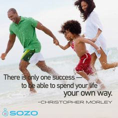 """There is only one success — to be able to spend your life your own way."" -Christopher Morley #MotivationalMonday"